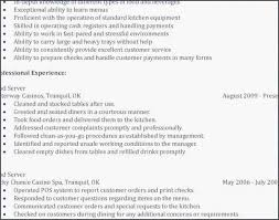 Fast Food Resume Objective Unique Examples For Restaurant Igniteresumes