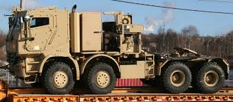 100 Military Semi Truck Canadian Army Mercedes Actros Armoured Tank Hauler Twin Steer