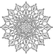 Simple Kaleidoscope Coloring Pages