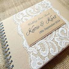 Personalised Wedding Scrapbook Rustic Guest Book With Lace Handmade To Order Planner