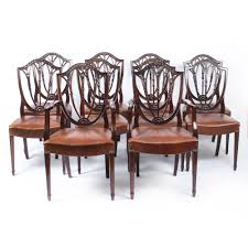 Antique Set 10 English Hepplewhite Dining Chairs 19th C 4 Hepplewhite Style Mahogany Yellow Floral Upholstered Ding Chairs Style Ding Table And Chairs Pair George Iii Mahogany Armchairs Antique Set Of 8 English Georgian 12 19th Century Elegant Mellow Edwardian Design Antiques World 79 Off Wood Hogan Side Chair Eight Late 18th Of