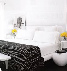 Black and White Throw Blanket Contemporary bedroom