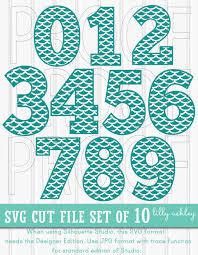 Mermaid SVG Mermaid Number Set of 10 Includes 0 through 9 SVG