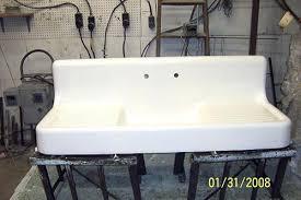 vintage porcelain kitchen sink re enameling or refinishing the