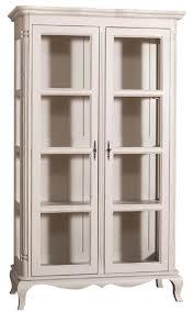 casa padrino landhausstil vitrinenschrank antik hellgrau 112 x 49 x h 190 cm massivholz wohnzimmerschrank mit 2 glastüren
