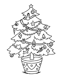 Christmas Tree Coloring Pages Book 8