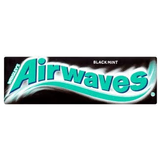 Airwaves Black Mint Sugar Free Chewing Gum - 10pcs