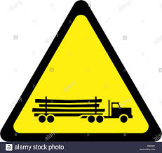 100 Truck Sign Warning Sign With Logging Truck Symbol Stock Photo 228731324 Alamy