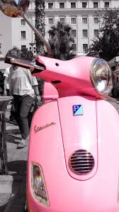 This Is My PINK Vespa And I Love ItI Wear A Ride Pink Helmet