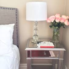 Bedside Table Lamps Walmart by Furniture C Shaped Nightstand Mirrored Nightstand Glass