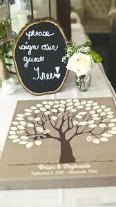 Burlap Wedding Tree Canvas Guest Book Alternative Signed Peachwik Rustic Diy Banner For