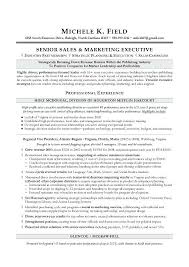 Sales And Marketing Resumes Of Executive Resume Sample Pdf