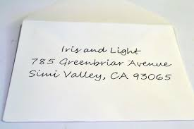 Writing By Hand Another Envelope Style