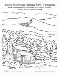 Smoky Mountains National Park Christmas Coloring PagesSanta