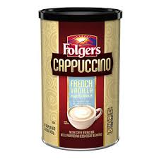 Folgers French Vanilla Cappuccino Canister