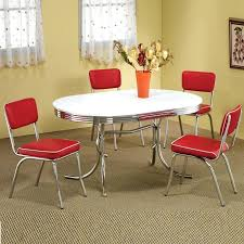 Wonderful Retro Dining Set Red 75 For Your Decoration Ideas With Diner Chairs Sale
