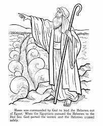 Moses Red Sea Coloring Pages Bible Story