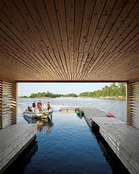 100 Lake Boat House Designs Integrated Dock And Of With Two Level Floating Home
