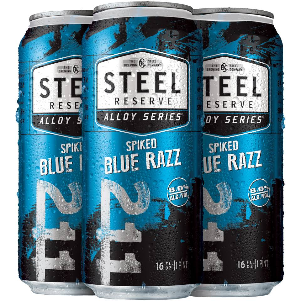 Steel Reserve Alloy Series Spiked Blue Razz Beer 16 Fl. Oz. Can