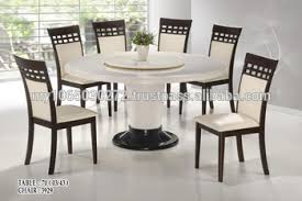 2015 Latest Stainless Marble Top Table Cushion Solid Wood Chair For Hong Kong Restaurant