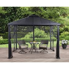 Patio Umbrella With Netting essential garden gazebo manual home outdoor decoration