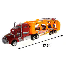 100 Toy Car Carrier Truck Details About KidPlay Deluxe Friction Semi Rier With 4 Race S 2 Colors