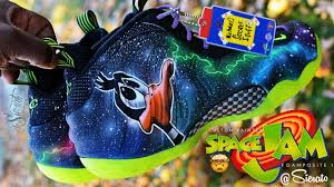100 Space Jam Foams Full Custom Foamposite 1 By Sierato