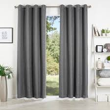 koo stratam extendable eyelet curtains charcoal spotlight