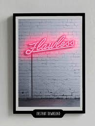 flawless poster neon sign beyonce lights decor
