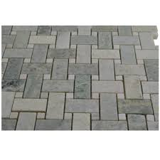 attractive carrara venato basketweave honed mosaic tile free