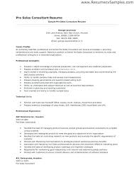 Pre Sales Consultant Resume It Examples Sample Rh Herelate Info Retail