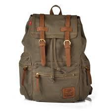 sac a dos toile sac à dos militaire vintage en toile et cuir sacs