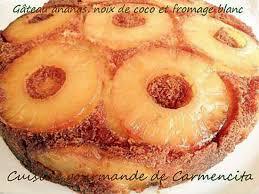 dessert ananas noix de coco recette de gâteau à l ananas noix de coco et fromage blanc