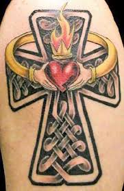 Kanji Celtic Cross Claddagh Tattoo Design In 2017 Real Photo