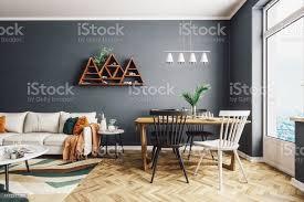 skandinavischer stil wohn und esszimmer stockfoto und mehr bilder architektur
