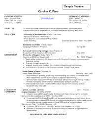 Sample Resumes For Teenagers