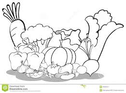 Fruits & Ve ables clipart black and white 8