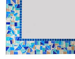 Blue Mosaic Bathroom Mirror by Blue Mosaic Mirror Etsy