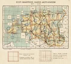 Estonian Road Map Sectional Plane 1938 Use The Zooming Tool To Explore In Higher