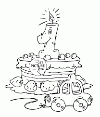 Cute Card Happy Birthday Coloring Page For Kids Holiday 1St Pages