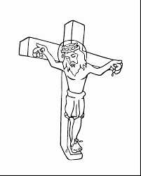 Stunning Jesus On Cross Coloring Page With Pages And Easter Printable