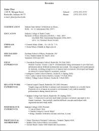 Educational Resume Examples Food Service Professional Special