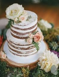 Naked Cake With Fresh Flowers By Nicole Vancouver Wedding Cakes Pastry
