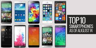 Top 10 Smartphone as of August 14