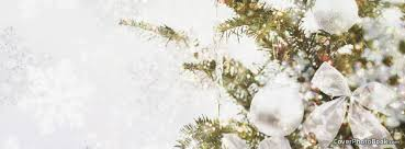 Winter Christmas Tree White Sparkle Free Facebook Timeline Profile Cover Holidays