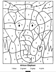 Halloween Math Multiplication Worksheets by Printable Color By Number Coloring Pages Best Printables