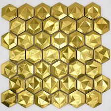 mosaikstahl gefliestes metall für küchenwand und badezimmer kami gold