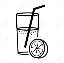 Juice clipart black and white · Juice Box