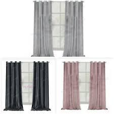 gardinen vorhänge aus samt ösen fürs wohnzimmer günstig