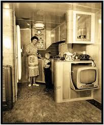 Vintage Trailer Print 1950s Schult Mobile Home Interior